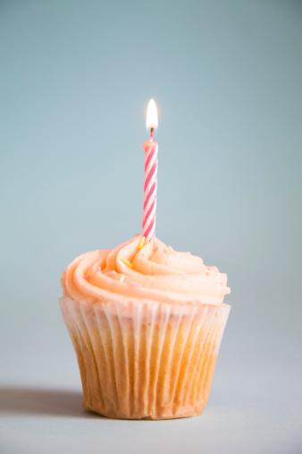 Cake「Cupcake with candle」:スマホ壁紙(16)
