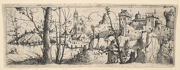 Etching「Landscape With Fort And A Church On A River」:写真・画像(9)[壁紙.com]
