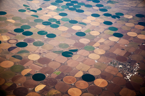 Irrigation Equipment「Crop Irrigation Circles From The Air.」:スマホ壁紙(18)