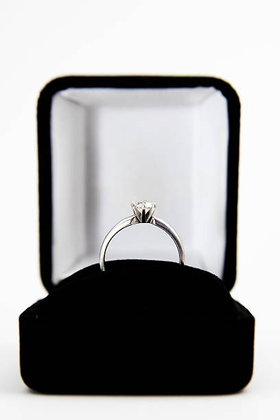 Engagement Ring in a Box Isolated on White:スマホ壁紙(壁紙.com)