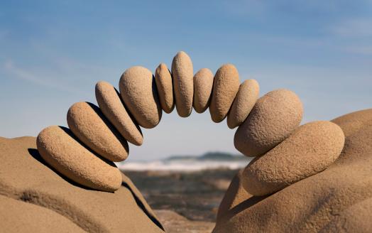 Unity「Bridge made from stones at seaside」:スマホ壁紙(13)