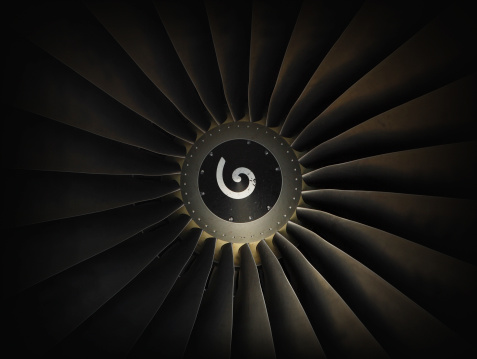 Jet Engine「Jet airplane engine turbine」:スマホ壁紙(8)