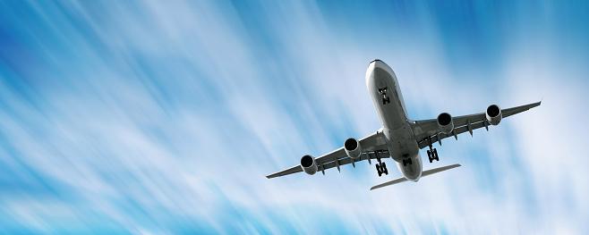Approaching「XXL jet airplane landing in motion blur sky」:スマホ壁紙(7)