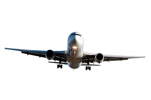 Approaching「jet airplane landing on white background」:スマホ壁紙(13)