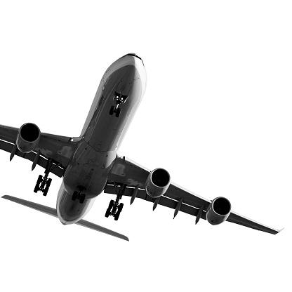 Approaching「jet airplane landing on white background」:スマホ壁紙(18)