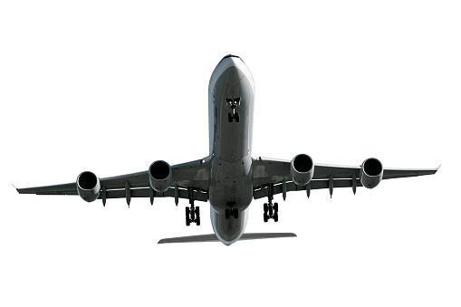 Approaching「jet airplane landing on white background」:スマホ壁紙(12)