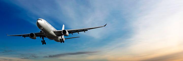 Approaching「jet airplane landing at dusk」:スマホ壁紙(6)
