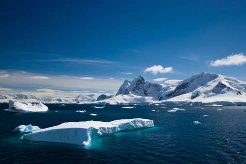 Glacier「Ice and snowy mountains with water in the Paradise Harbour」:スマホ壁紙(8)