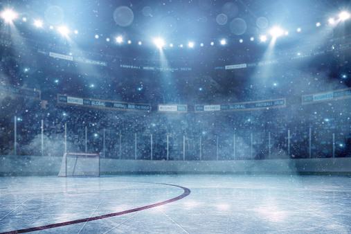 Stadium「Dramatic ice hockey arena」:スマホ壁紙(6)