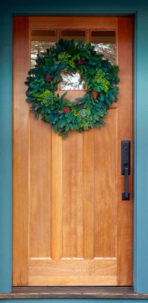 Front Door「Holiday Wreath on Front Door」:スマホ壁紙(15)
