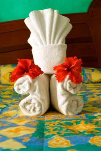 Duvet「Towels Folded For Decoration On A Bed In A Hotel Room」:スマホ壁紙(16)