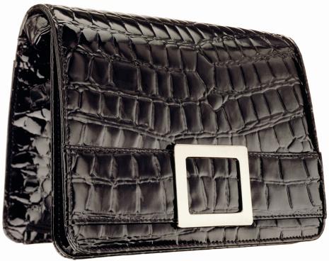 Clutch Bag「A black vintage patent leather alligator clutch」:スマホ壁紙(18)