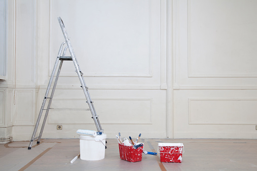 France「step ladder Paint roller and brush and paint can」:スマホ壁紙(12)