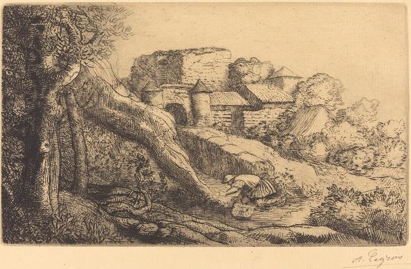 Grass「Little Burner Of Grass (Le Petit Bruleur Dherbe). Creator: Alphonse Legros.」:写真・画像(0)[壁紙.com]