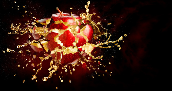 Destruction「Exploding apple」:スマホ壁紙(1)