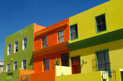 Malay Quarter「Colorful buildings, South Africa」:スマホ壁紙(2)