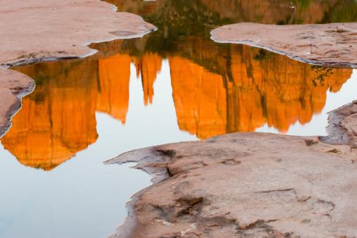 Sedona「Cathedral Rock reflection.」:スマホ壁紙(1)
