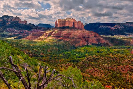 Sedona「Cathedral Rock viewed from Airport Trail, Sedona, Arizona, America, USA」:スマホ壁紙(6)