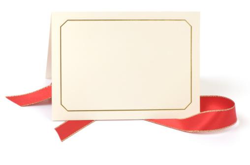 Wedding Invitation「Blank card with red ribbon」:スマホ壁紙(12)