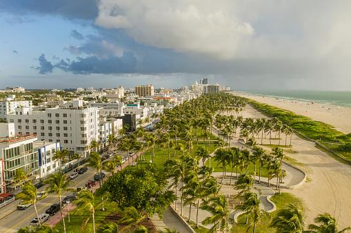 Gulf Coast States「Miami Beach. Aerial view of South Beach.」:スマホ壁紙(9)