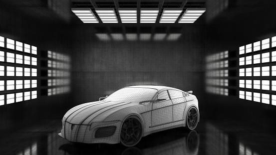 For Sale「Generic conceptual sports car in studio」:スマホ壁紙(15)