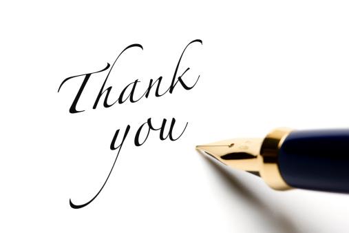 Writing「Thank you」:スマホ壁紙(6)