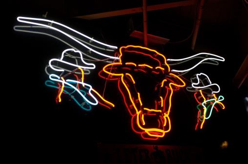 Texas「Texas Longhorn Neon Sign」:スマホ壁紙(15)