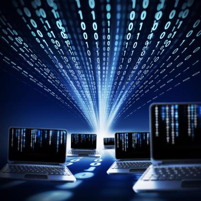 Electronics Industry「binary code and laptops」:スマホ壁紙(0)