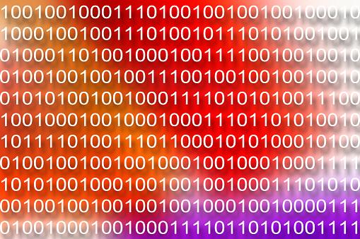 Zero「Binary code background」:スマホ壁紙(6)