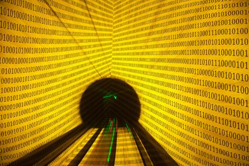 Zero「Binary code tunnel」:スマホ壁紙(18)