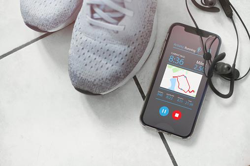 Mobile Phone「Running app」:スマホ壁紙(6)