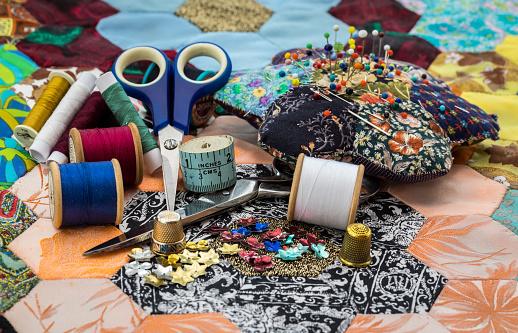 Sewing「Sewing Equipment / Patchwork Quilt」:スマホ壁紙(6)