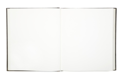Personal Organizer「Open empty white hardcover book」:スマホ壁紙(16)