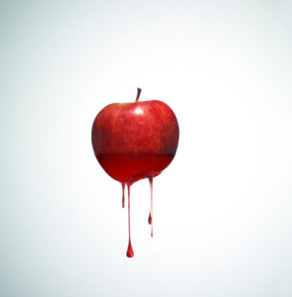 Digital Composite「Apple with drippy red ink」:スマホ壁紙(18)