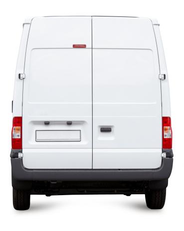 Van - Vehicle「White Van from behind isolated」:スマホ壁紙(19)