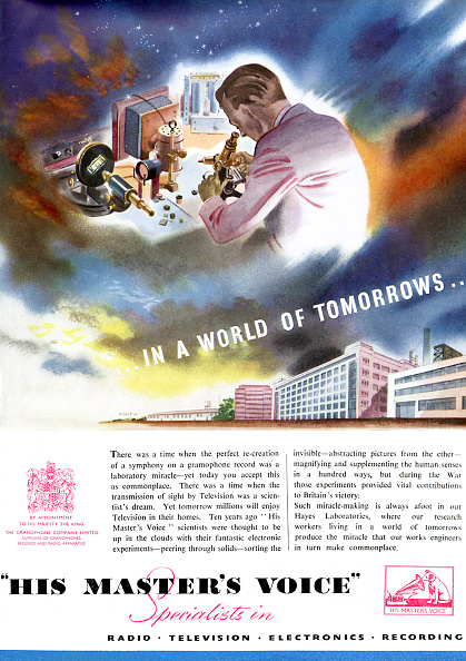 Business Finance and Industry「Advertisment for His Master 's Voice / HMV celebrating the technological advances of the company」:写真・画像(10)[壁紙.com]