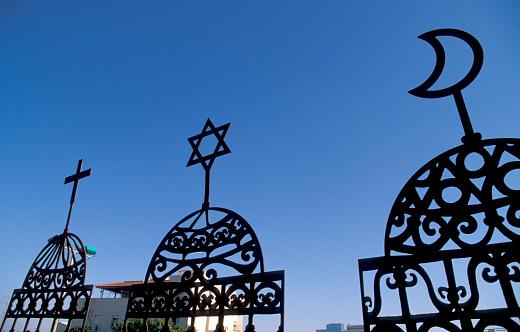 Religion「Symbols of Christianity, Judaism and Islam」:スマホ壁紙(12)