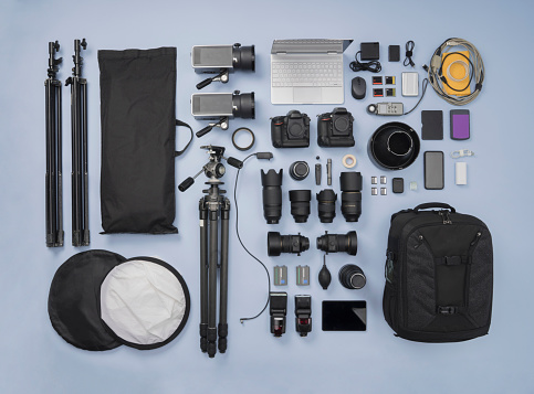 Knolling - Concept「Photographic Equipment knolling style」:スマホ壁紙(6)