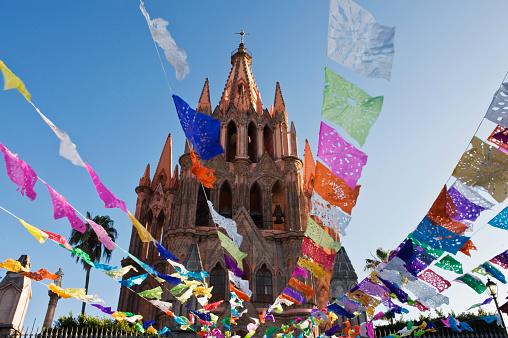 Mexico「Parroquia De San Miguel Archangel Church Tower」:スマホ壁紙(3)