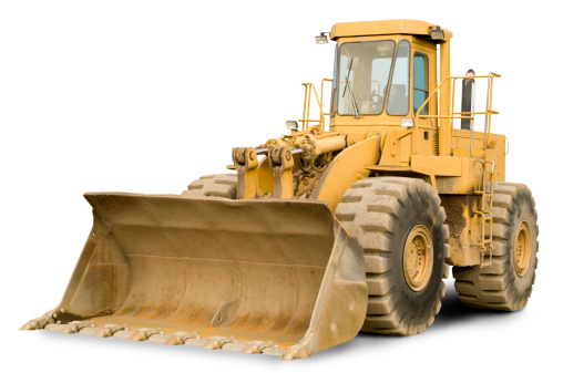 Construction Vehicle「front end loader w clipping path」:スマホ壁紙(2)