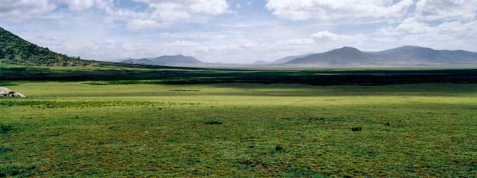 Volcano「Shadows fall across a vast savannah plain to distant mountains on the horizon.」:スマホ壁紙(19)