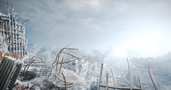 Deterioration「Nuclear Winter Urban Landscape」:スマホ壁紙(3)
