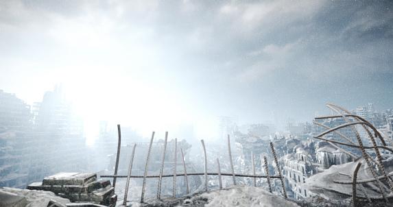 Toned Image「Nuclear Winter Urban Landscape」:スマホ壁紙(18)