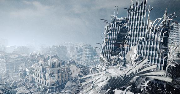 Extinct「Nuclear Winter Urban Landscape」:スマホ壁紙(10)