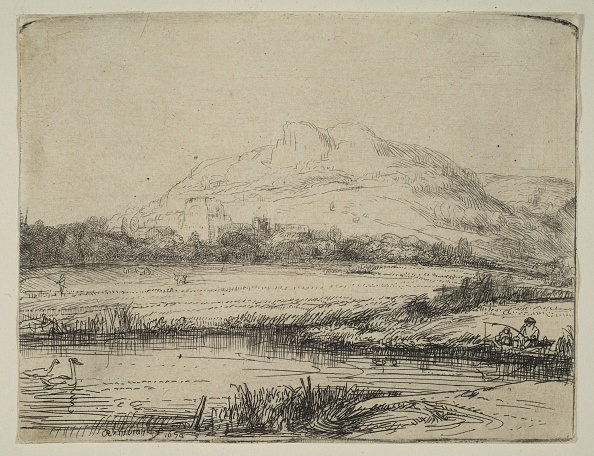 Recreational Pursuit「Canal With An Angler And Two Swans」:写真・画像(13)[壁紙.com]