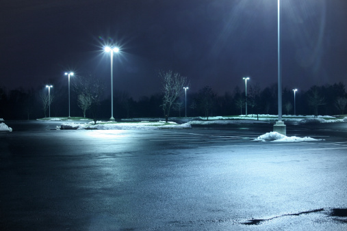 Street Light「Parking lot at night」:スマホ壁紙(14)