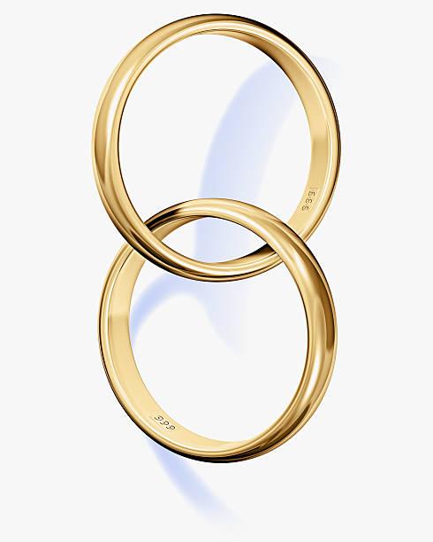 Two interlocked wedding rings:スマホ壁紙(壁紙.com)