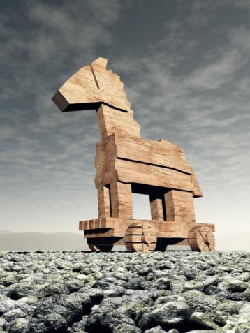 Horse「The wooden Trojan Horse in Front of a Dark Sky」:スマホ壁紙(8)