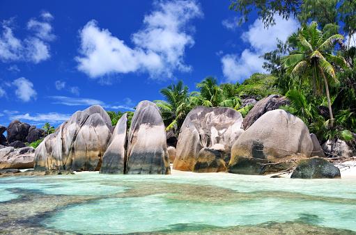 Bay of Water「Anse Source D'Argent beach, Seychelles」:スマホ壁紙(18)