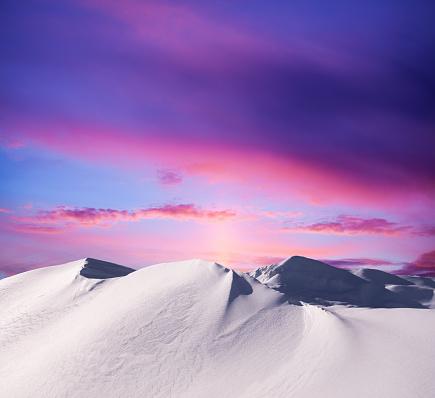 Snowdrift「Sunset In The Mountains」:スマホ壁紙(8)